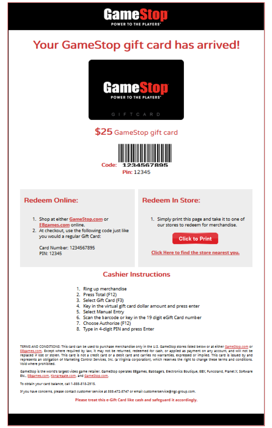 Gift Cards Supply Chain Management